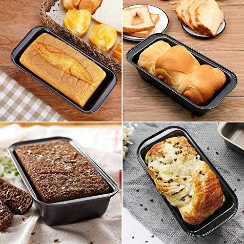Golden Drops Pack of three Teflon Coating Rectangle Cake Bread Tin Bread Loaf Tins Bread Mold Cake Baking Mold Bread Loaf Pan