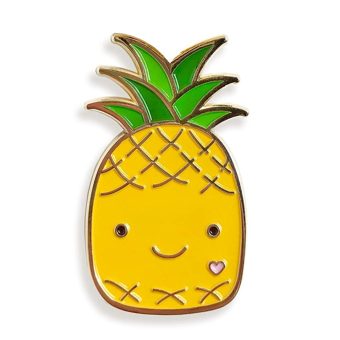 Night Owl Paper Goods Pineapple Enamel Pin Gold