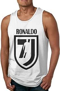 Veta Megica Men's Cotton Tank Top Shirts Black Ronaldo 7 Sleeveless Gym Vest