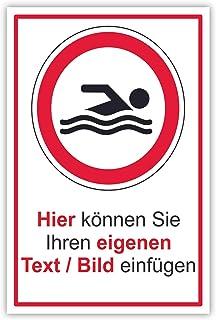 SCHILDER HIMMEL apassbares Baden verboten Lebensgefahr Schil