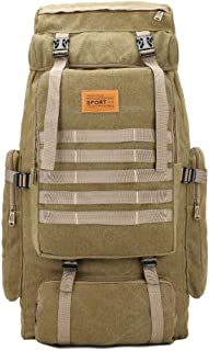 80L Hiking Backpack Rucksack Waterproof Traveling Tactical Luggage Used for Outdoor Sports Climbing Mountaineering,Khaki