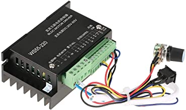 【2021 New Year 𝐏𝐫𝐨𝐦𝐨𝐭𝐢𝐨𝐧】DC Motor Driver Controller, WS55-220 DC 48V 500W 12A 20000RPM CNC Brushless Spindle BLDC...