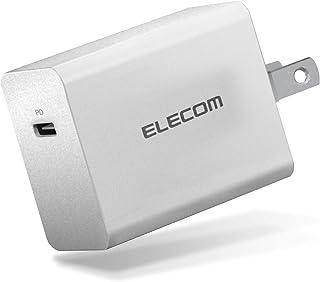 エレコム AC充電器 ACアダプター 【 iPhone/Android/タブレット/ノートPC 充電対応 】 PowerDelivery 急速充電 (30W) 対応 Type-C×1ポート GaN (窒化ガリウム ) ホワイト EC-AC04WH