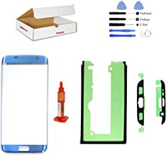 (md0410) Coral Blue Front Outer Lens Glass Screen Replacement Compatible Galaxy S7 Edge G935 + Repair Kit (LCD and Digitizer not Included)