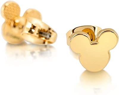 Disney Mickey Mouse Silhouette Gold Plated Earrings