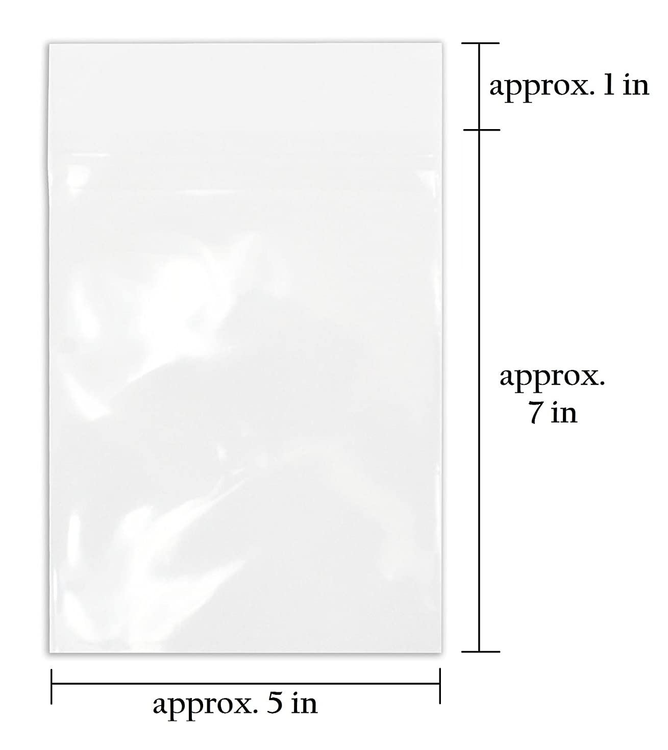 Golden State Art, Pack of 100, Acid-Free 5 1/4 X 7 1/8 inches Crystal Clear Sleeves Storage Bags for 5x7 Photo Framing Mats Mattes
