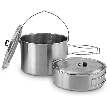 Stainless Steel Companion Pot Set For Solo Stove Campfire Solo Stove 2 Pot Set