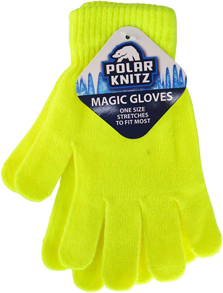 Adult Unisex Stretchy Knit Magic Winter Gloves