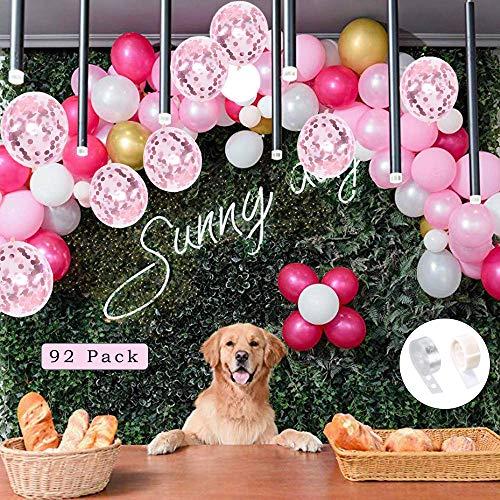 luftballons girlande,luftballons rosa weiß gold,ballonbogen kit,latex konfetti Luftballons,luftballons für party geburtstag hochzeit,balloons arch,luftballons dekoration für mädchen(Pink)