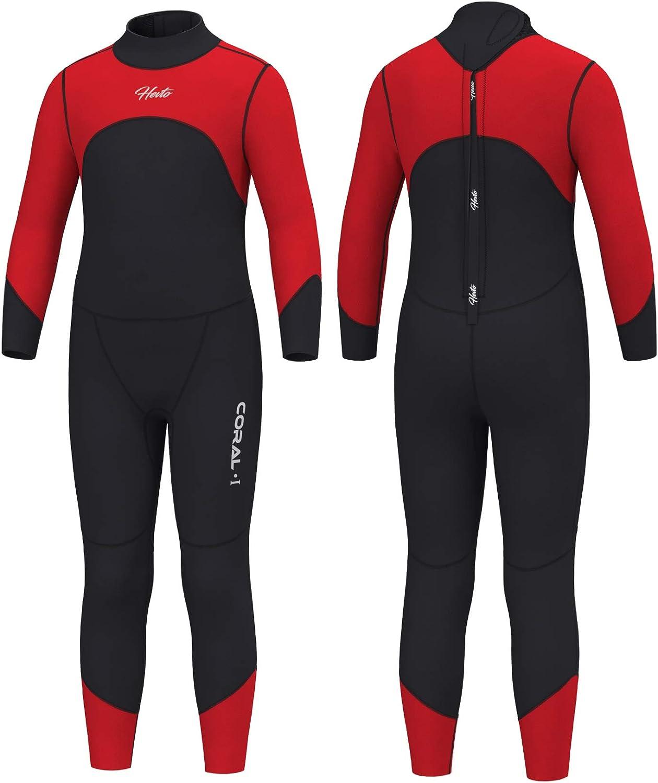 Hevto Wetsuits Kids and 公式ショップ Youth 3mm Sleev Suits 税込 Long Full Neoprene