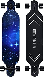 B BAIJIAWEI Drop Through Longboard - 41 Inch Maple Skateboard - Complete Skateboard Cruiser for Cruising, Carving, Free-Style and Downhill