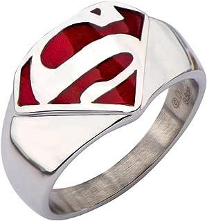 DC Comics Superman Man of Steel Stainless Steel Ring