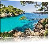Mallorca Cove Bay Photo sur Toile | Taille: 100x70 cm | Peinture Murale | Art Print | prêt Couvert