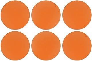 CARIBOU Coasters, Solid Neon Fluorescent Orange Design Absorbent Round Fabric Felt Neoprene Coasters for Drinks, 6pcs Set