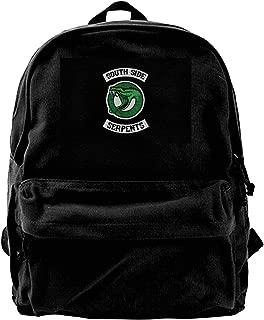 WUHONZS Canvas Backpack Riverdale Serpents Southside Rucksack Gym Hiking Laptop Shoulder Bag Daypack for Men Women