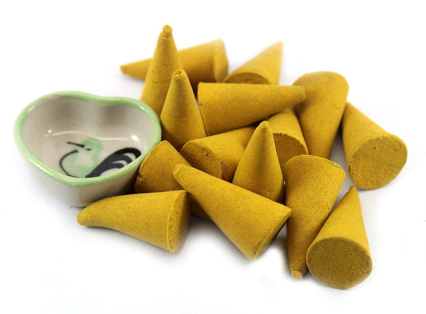 絶壁傾向がある同一性ChampakaフローラルIncense Cones with Burnerホルダー100ピースパックThaiEnjoy製品
