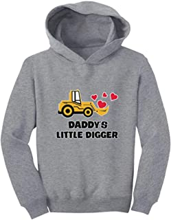 Tstars - Daddy's Little Digger Boys Valentines Day Toddler Hoodie
