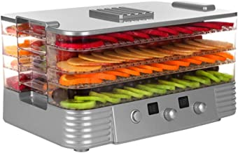 YUNTAO Food dehydrator, Intelligent Fruit Dryer, Mini Electric Household 4-Layer Tray with Temperature Control and Time Ad...
