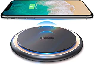 Andobil Boost Qi 15W Wireless Fast Charger, USB-C Alloy Slim Wireless Charging Pad Station 10W 7.5W Compatible iPhone 11/11Pro/X/Xs Max/Xs/Xr/8/8+, Samsung Note10+ Galaxy S10/S9/S8/S7, LG V40/V30/G7