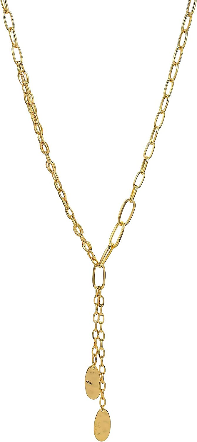 Bay Studio Shiny Chain Link Y-Shaped Necklace One Size Gold