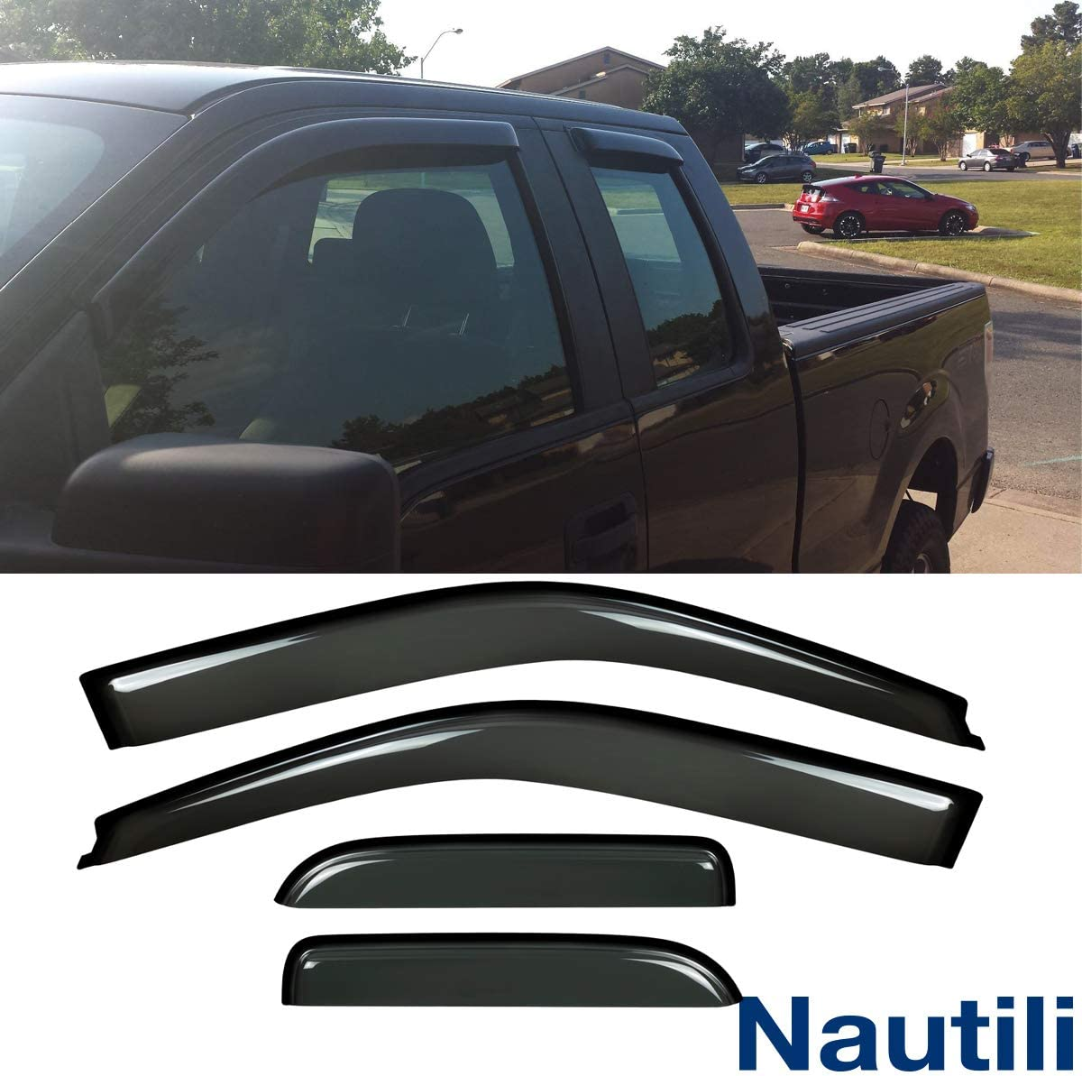 4-Piece Set Free shipping anywhere in the nation Ventvisor Side Window Deflector discount Guard Vent Sun Rain