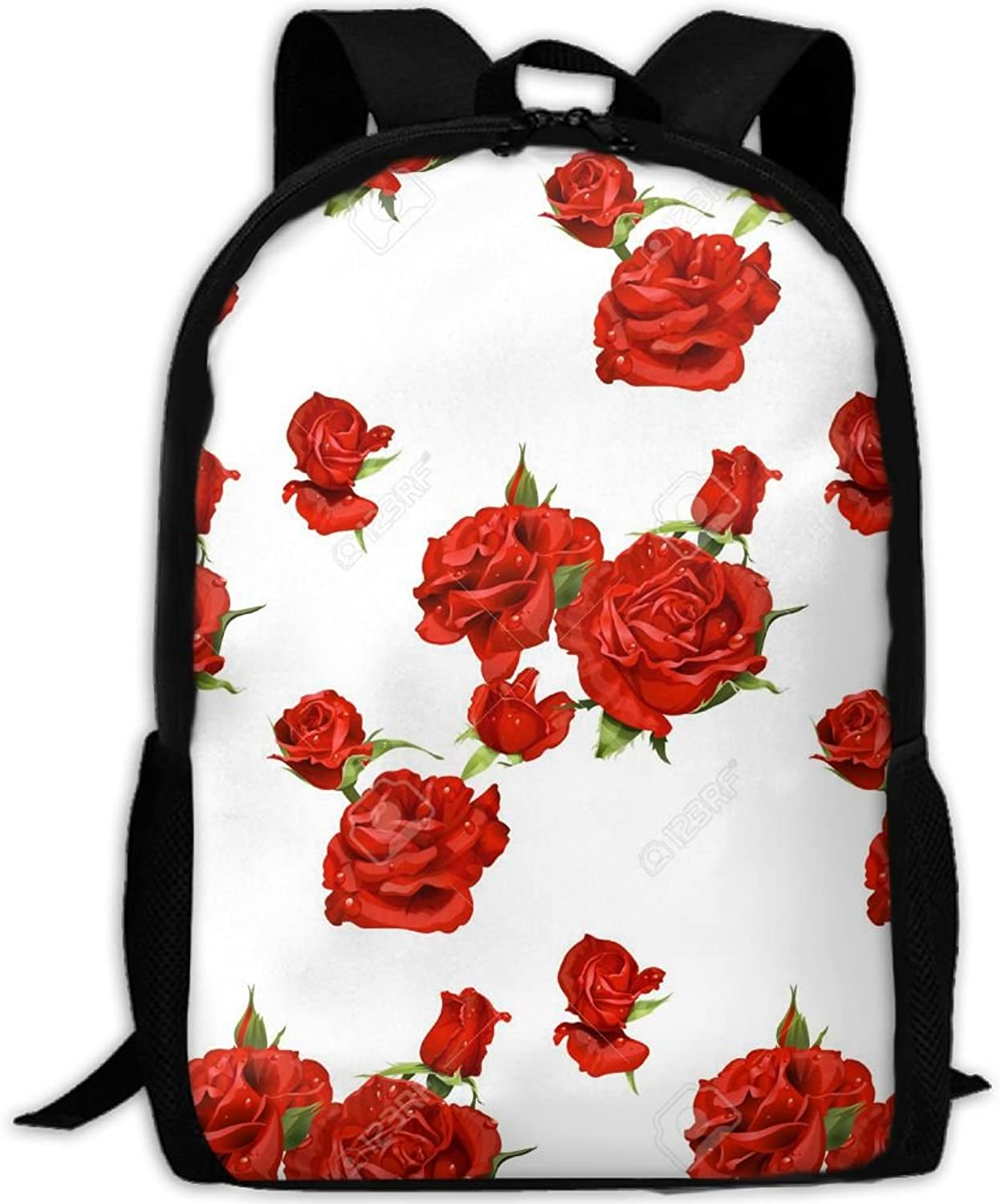 2f8e0cb27fc1 Backpack Laptop Travel Hiking School Bags pink Red Daypack Bag ...