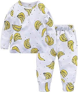 Conjunto de Pijama con Estampado de Frutas, de algodón, Ropa de Dormir para niños de 1 a 8 años