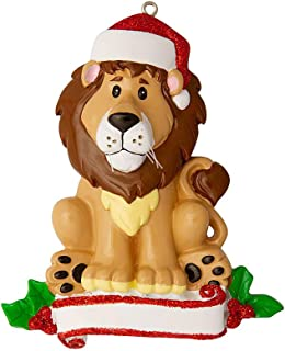 Personalized Lion Zoo Animals Christmas Tree Ornament 2019 - Cute Brown Forest Collection Adventure Toy Costume King Guard Brave Simba Kion Jungle Cub Broadway Gift Year - Free Customization