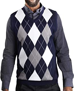 Blue Ocean Argyle Sweater Vest