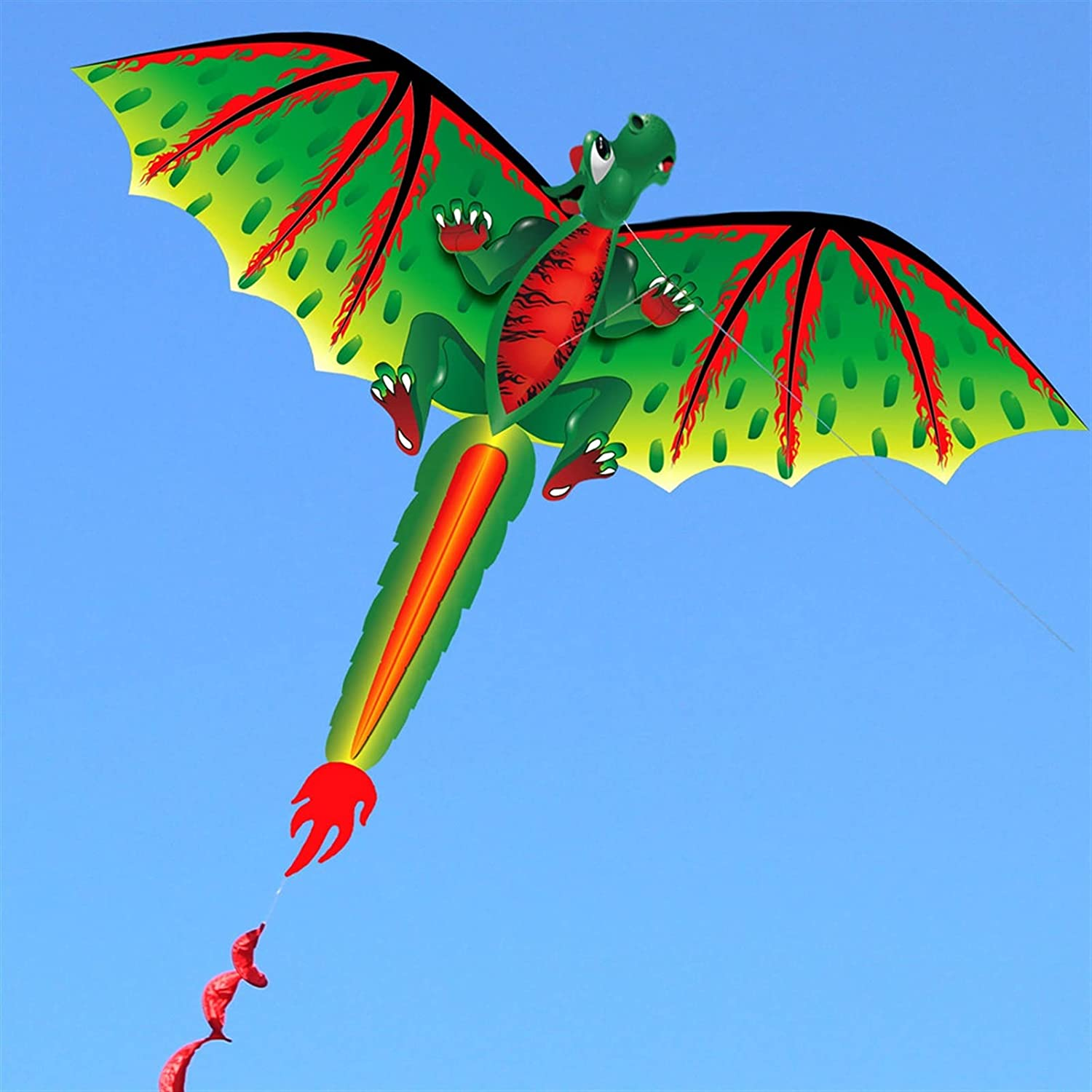 YSJJVDS Kites 3D Dragon 100M Kite K Sale special price Flying with Attention brand Tail Single Line