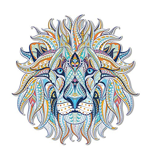 ARTEM Watercolor Folk-Custom Style Lion Patches Heat Transfers Iron on Stickers for DIY Tops Clothes Decoration Applique