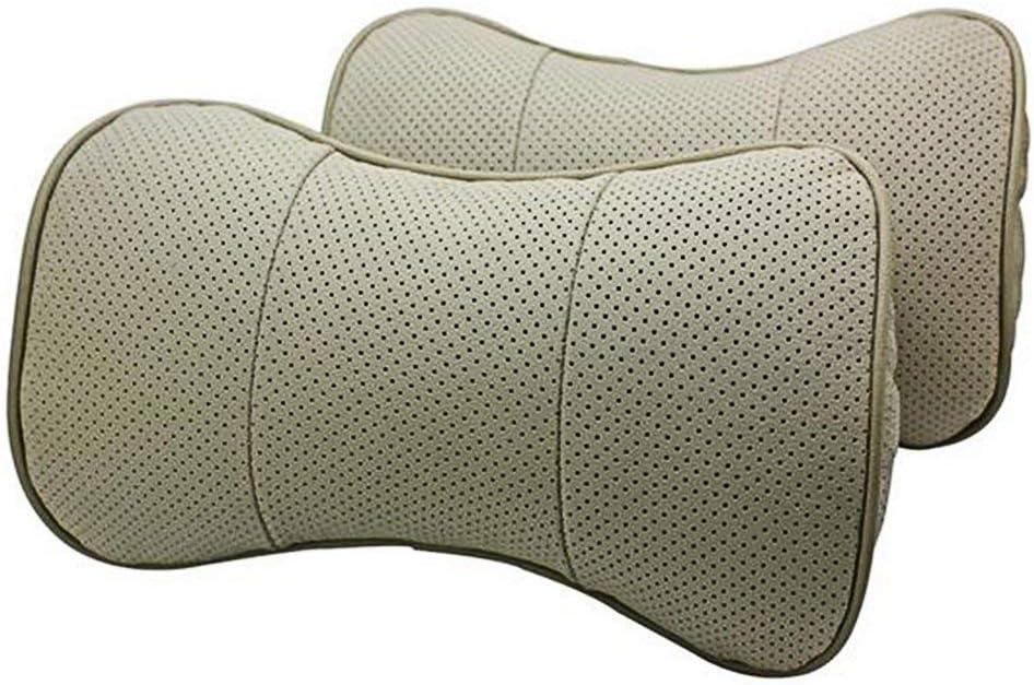 Autosunshine Nackenstütze Kopfstütze Komfortables Kissen Echt Leder Knochenförmig Braun Braun For Mini With Logo Auto