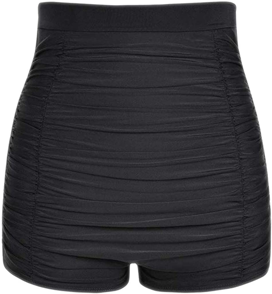 Weiheng Womens Black Swimsuit Shorts Plus Size Swimsuit Bottoms High-Waisted Bikini Bottoms Briefs