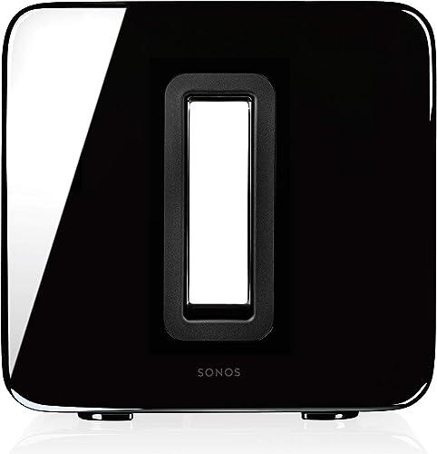 Sonos Sub, schwarz – Leistungsstarker WLAN Subwoofer für dynamische & tiefe Bässe für alle Sonos Speaker – Eleganter ...
