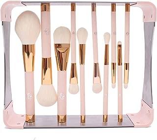 ENERGY Professional Makeup Brushes Set with Magnet Makeup Brush Drying Rack Wood Handle Metal Stand Premium Powder Blusher Eyeshadow Concealer Blending Brush Kit(pink,Metal Magnet Organizer)