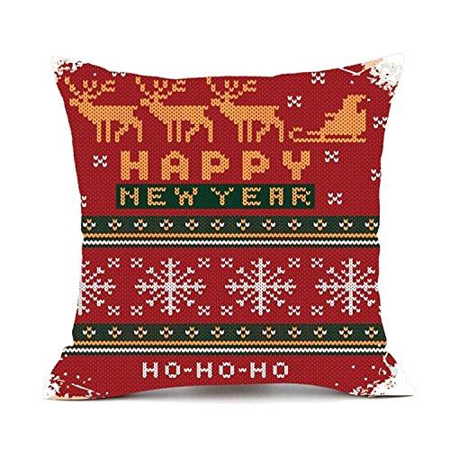 Hmlai kussensloop, vrolijk kerstkussensloop, slaapbank, kussensloop, huisdecor, katoenen linnen, 45 x 45 cm
