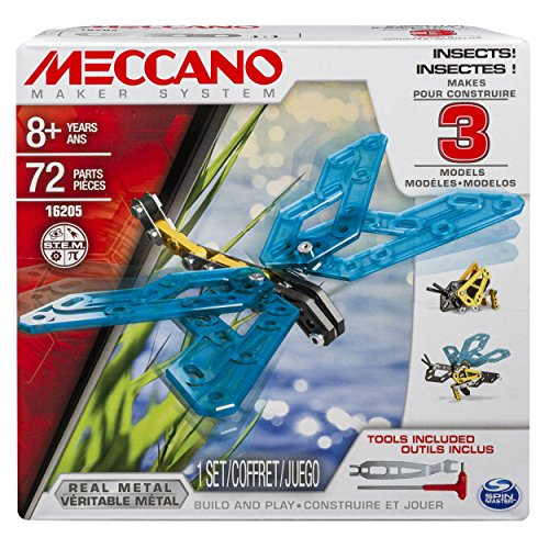 MECCANO 6026714 Spielzeug-3 Model Set, Insects