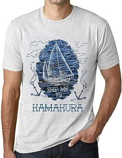 Men's Vintage Tee Shirt Graphic T Shirt Ship Me to Kamakura Vintage White