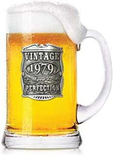 English Pewter Company 1 Pint Vintage Years 1979 40th Birthday or Anniversary Beer Mug Glass Tankard - Unique Gift Idea For Men [VIN032]