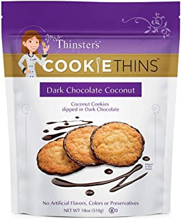 Mrs. Thinsters DARK CHOCOLATE COCONUT Cookie Thins 18 oz.