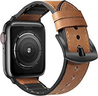 ostrich leather apple watch band