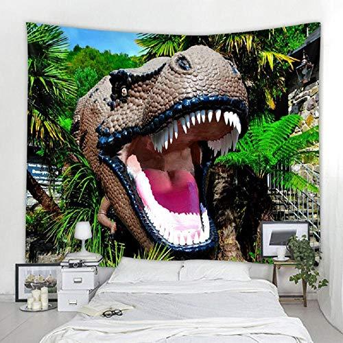 AdoDecor Boca de Dinosaurio Sábanas de Tapiz para Colgar en la Pared Tapices Decorativos para el hogar Toalla de Playa Estera de Yoga Manta Paño de Mesa Tapiz de Pared 150x100cm/59 * 39inch