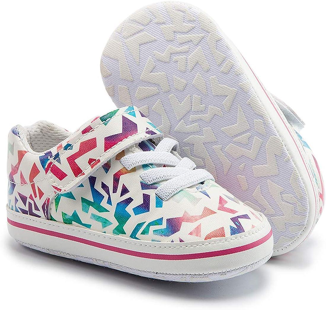 Casazoe Baby Playful Print Sneaker Cushy Casual Infant Boys Girls Tennis Shoes Anti Slip Sole First Crib Cute and Stylish Crib Fashion Shoes