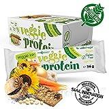 Maxsport Nutrition Glutenfrei Vegan Protein Veggie Proteinriegel - 16 Stück - Veggie Mix