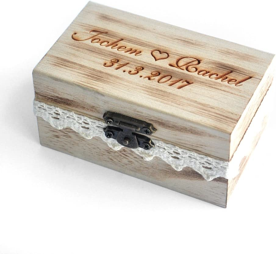 FREE SHIPPING Personalisable Unfinished wooden heart box Wood wedding rings box Wood wedding box Heart wedding box Wooden jewellery box