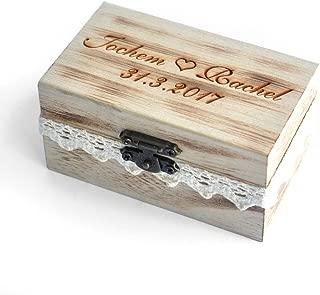 Custom Rustic Wedding Ring Box , Personalized Ring Bearer Box, Wooden Bearer Box, Wooden Box for Rings