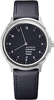 Mondaine - Helvetica Regular - Reloj de Cuero Negro para Hombre y Mujer, MH1.R2220.LB, 40 MM