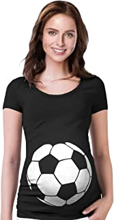 TeeStars - Soccer Ball Belly Funny Pregnancy Announcement Gift Maternity Shirt