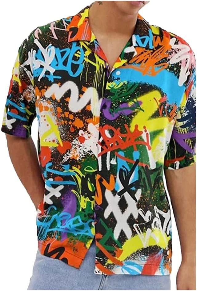 SLATIOM Men Summer Hawaiian Shirt Financial sales sale Lap Casual Fashion Retro Men's mart