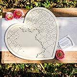 Puzzle Madera Libro de Firmas Corazón Alternativo Original - Libros de Firmas para Bodas, Comuniones Kraft Rústicos 47 CM